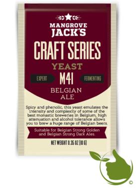Trocken Bierhefe Belgian Ale M41 - Mangrove Jack's Craft Series - 10 g
