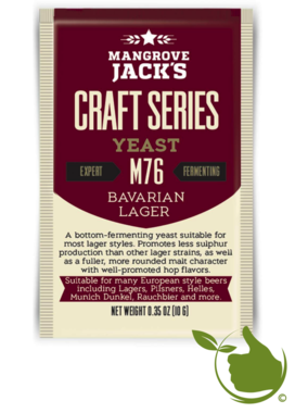Trocken Bierhefe Bavarian Lager M76 - Mangrove Jack's Craft Series - 10 g